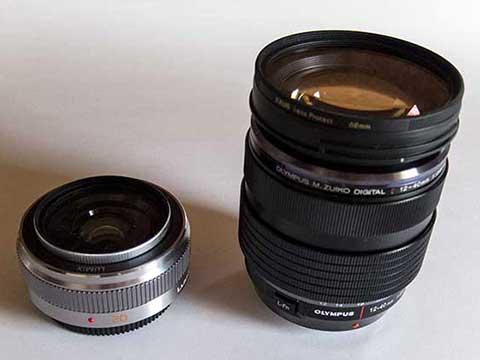 LUMIX G 20mm II / M.ZUIKO 12-40mm